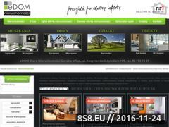Miniaturka domeny www.edom-nieruchomosci.pl