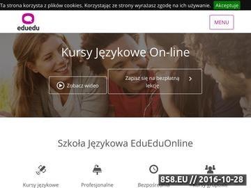 Zrzut strony Kursy językowe online