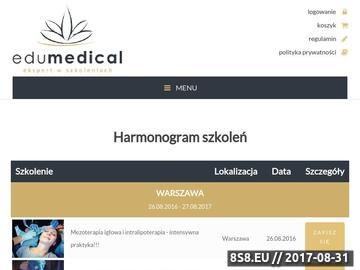 Zrzut strony Szkolenia dla lekarzy
