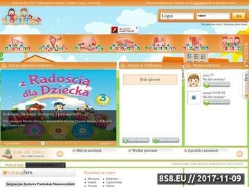 Zrzut strony EduPełzaki - serwis edukacyjno-informacyjny dla Dzieci