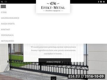 Zrzut strony Efekt-Metal - balustrady kute