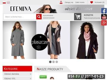 Zrzut strony Bielizna damska sklep internetowy eFemina