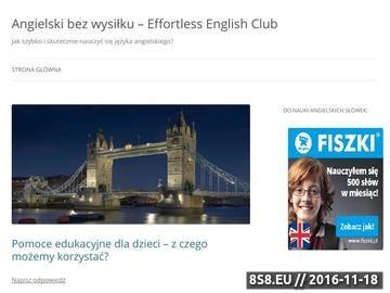 Zrzut strony Jak szybko i efektywnie nauczyć się mówić po angielsku?