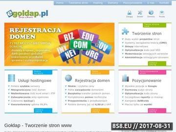 Zrzut strony Gołdap - Tworzenie stron www, projektowanie stron internetowych