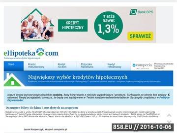 Zrzut strony Porównywarka kredytów hipotecznych