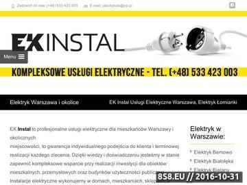 Zrzut strony Elektryk Warszawa - Ekinstal