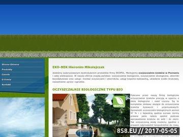 Zrzut strony Eko-Mik: Oczyszczalnie montaż, roboty ziemne w wielkopolsce, kosta brukowa