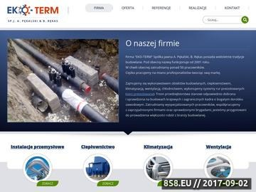 Zrzut strony Eko-Term - usługi budowlane (konstrukcje stalowe, klimatyzacja, rurociągi)