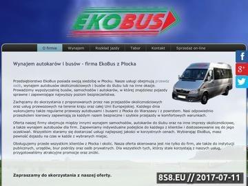 Zrzut strony Wypożyczalnia autokarów Płock