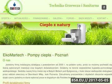 Zrzut strony Pompy ciepła - Piła, Poznań oraz Gniezno.