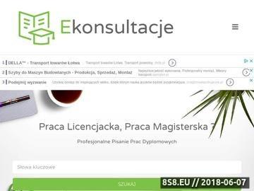 Zrzut strony Prace licencjackie - Ekonsultacje