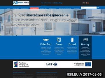 Zrzut strony Ekoplast Kraków