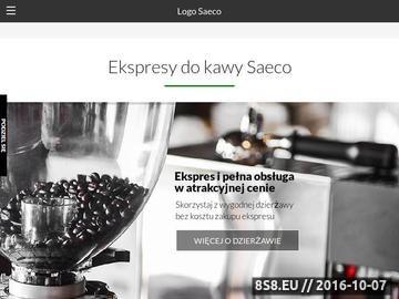 Zrzut strony Ekspresy do kawy Saeco