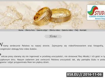 Zrzut strony Wideofilmowanie Biała Podlaska i fotografia ślubna