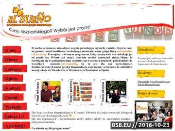 Zrzut strony Kurs hiszpańskiego Poznań