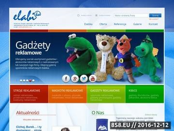 Zrzut strony Elabika - stroje reklamowe, maskotki reklamowe, gadżety reklamowe