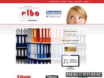 Zrzut strony ELBO artykuły biurowe Gdańsk