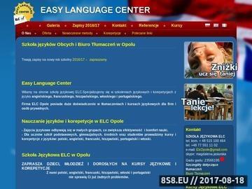Zrzut strony Szkoła Języków Obcych Opole