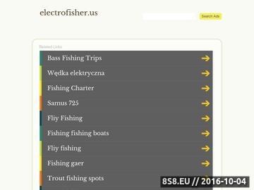 Zrzut strony Www.electrofisher.us - electrofisher FR-505 wędka elektryczna do odłowu ryb