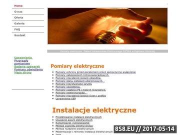 Zrzut strony Pomiary elektryczne zakład instalatorstwa elektrycznego
