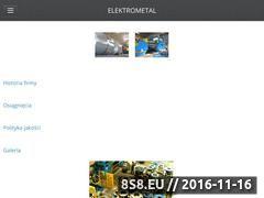Miniaturka domeny www.elektrometal.pl