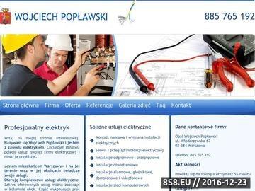 Zrzut strony Instalacje elektryczne Warszawa