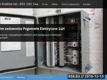 Zrzut strony Usługi elektryczne różnego rodzaju