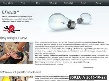Zrzut strony Usługi elektryczne Kraków