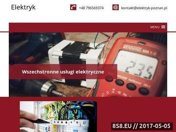 Zrzut strony Elektryk Poznań