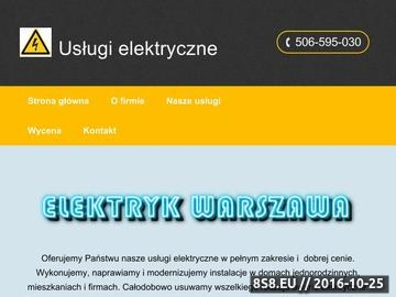 Zrzut strony Usługi elektryczne