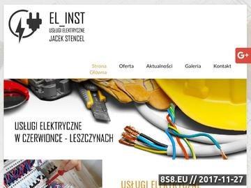 Zrzut strony El_inst instalacje elektryczne