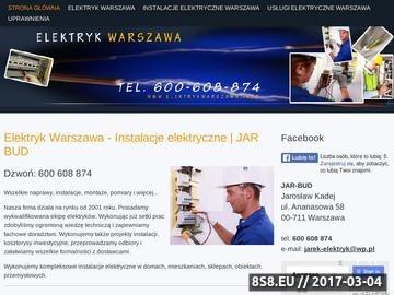 Zrzut strony Elektryk Warszawa