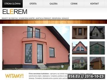 Zrzut strony Oferta usług budowlanych: elewacje, remonty, docieplenia