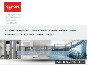 Zrzut strony ELFON - Domofony Polski Producent, Wideodomofony, Czujniki czadu