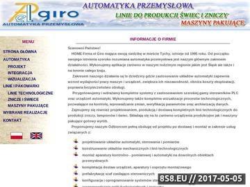 Zrzut strony El Giro Automatyka Przemysłowa maszyny do produkcji zniczy