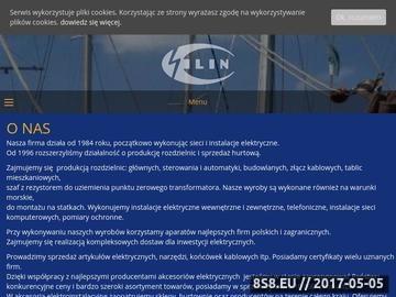 Zrzut strony F.W. Elin - Produkcja rozdzielnic, Sprzedaż artykułów elektrycznych