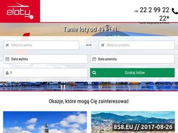 Zrzut strony Tanie loty - eLoty.pl