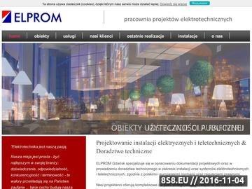 Zrzut strony ELPROM - Projektowanie instalacji elektrycznych
