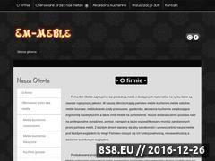 Miniaturka domeny www.em-meblekuchenne.pl