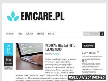 Zrzut strony EmCare - agencja opiekunek