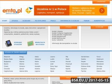 Zrzut strony Studia we Wrocławiu