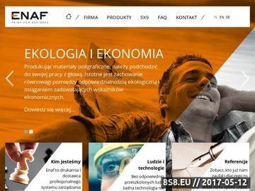 Zrzut strony ENAF SP. Z O.O. teczki