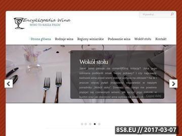 Zrzut strony Wszystko o winach - Encyklopedia-Wina.pl