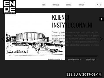 Zrzut strony Architekt Poznań