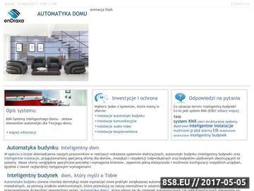 Zrzut strony EnDraxa - automatyka domu, inteligentne instalacje, inteligentny dom, KNX/EIB