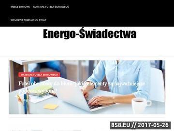 Zrzut strony Certyfikat energetyczny budynku