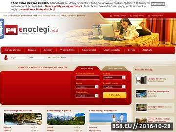 Zrzut strony Serwis Enoclegi.net.pl to nietuzinkowa baza noclegowa