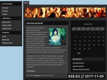 Zrzut strony Enya.com.pl || Biografia Enyi > Muzyka > Teksty > Teledyski
