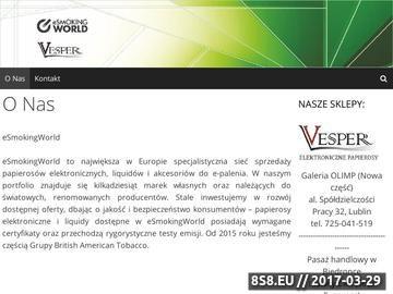 Zrzut strony Elektroniczne papierosy, Lublin, Puławy