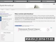 Miniaturka domeny www.epoki-literackie.pl
